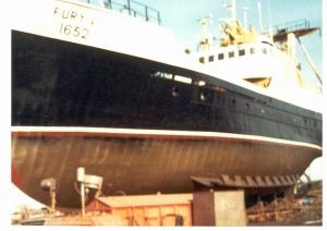 """MV """"Fury V"""" in dock"""